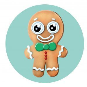 How to draw gingerbread man step by step cartoon drawing for kids