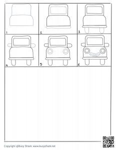 Download Free printable drawing practice for car