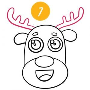 step 7 to draw a reindeer