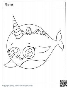 Download narwhal coloring page