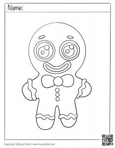 Free printable drawing practice for gingerbread man