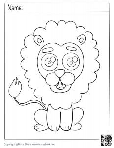 Free printable coloring page lion download