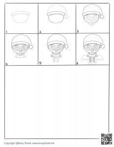 6 steps an elf drawing page