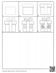 download gift box page,free printable activity for kids and beginners