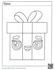 gift box coloring page download free printable