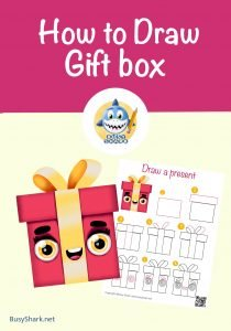 how to draw a cute gift box step by step directed drawing