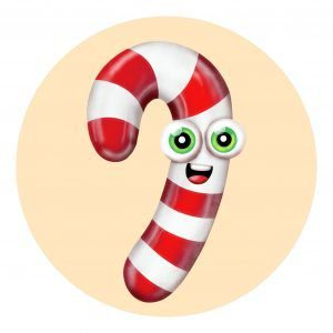 how to draw cute candy cane simple cartoon drawing