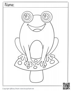 download free frog on a mushroom coloring page