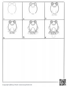 free download a frog on a mushroom drawing page