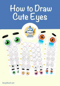 how to draw cute cartoon eyes directed drawing step by step tutorials