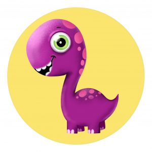 How to draw a cute dinosaur, step by step cartoon drawing for kids