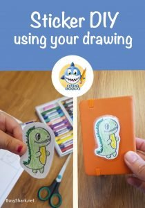 how to make a terx dinosaur sticker using your drawing