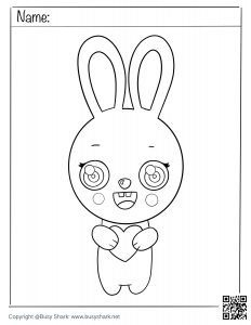 download free coloring page for a bunny