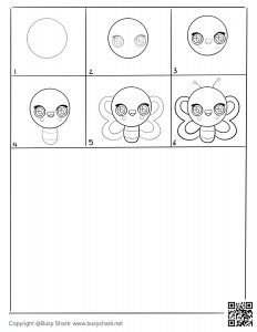 Free Butterfly drawing page,free download