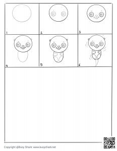 download free drawing page for a sea otter on its back in water , 6 steps