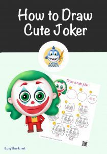 How to draw a cute joker famous dc comics character