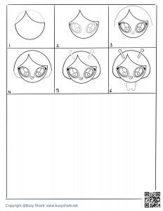 Free Alien girl drawing page,free download