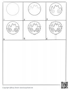 Free cakepop lollipop drawing page,free download