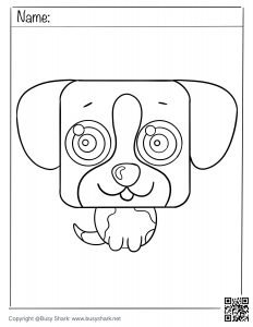 download free coloring page for a cute Puppy