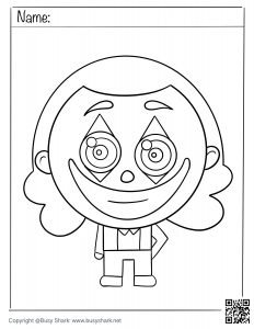 Download free cute joker coloring page