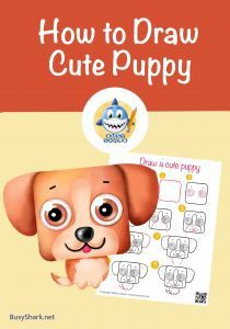 How to draw a cute puppy dog , step by step cartoon drawing tutorial