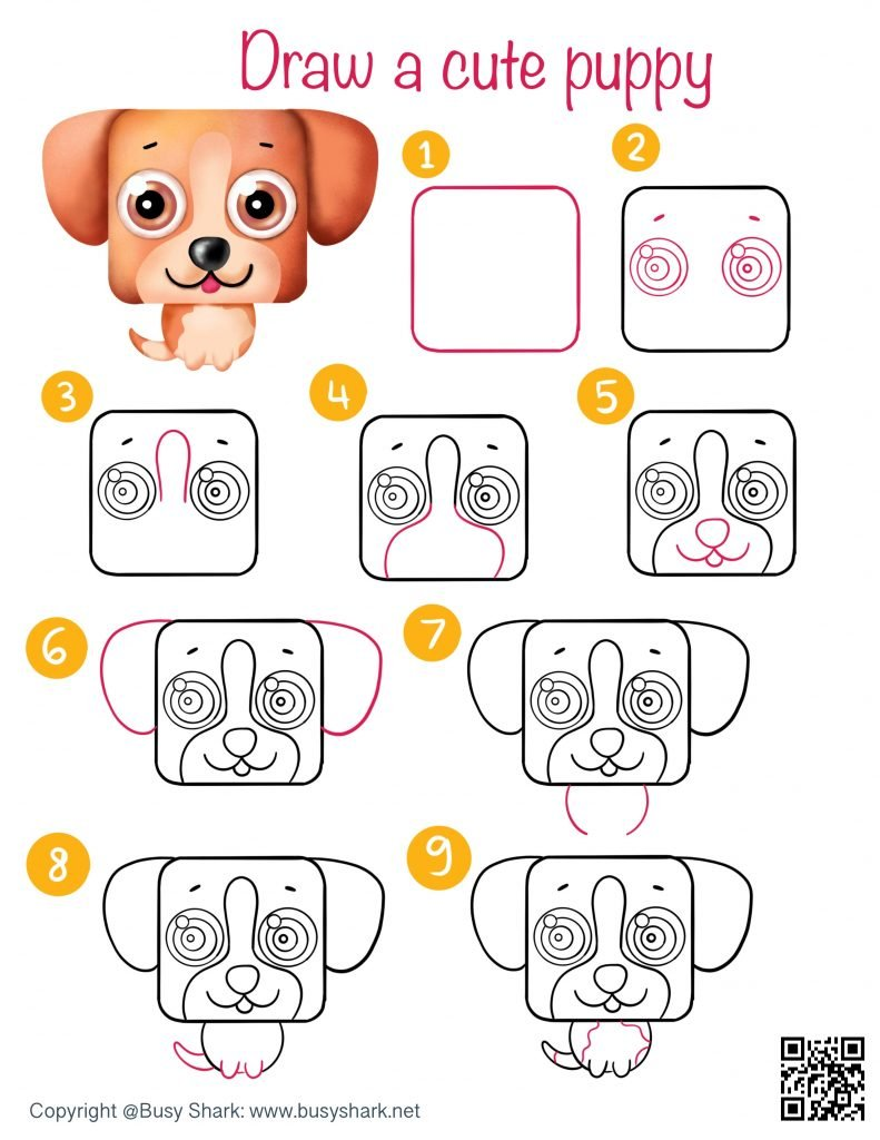 how to draw a cute cartoon puppy step by step tutorial easy