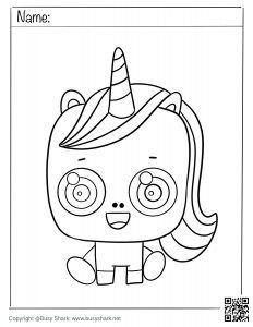 download free coloring page for a cute Unicorn