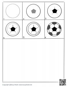 Download free soccer ball drawing page , learn to draw a soccer ball easy in 6 steps