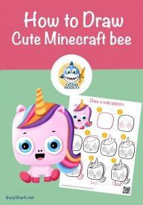 How to draw a cute unicorn , step by step cartoon drawing tutorial