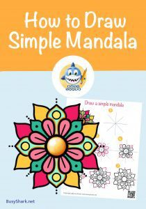 How to draw a simple and easy mandala step by step