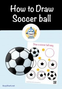How to draw a soccer ball or football so easy step by step tutorial drawing guide