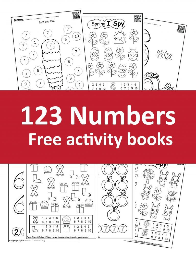 Free 123 numbers coloring books , download pdf books for kids.learn to count for kids