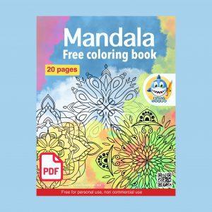 Free 20 mandala coloring book,download and print to enjoy coloring these beautiful mandalas