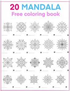 Download free 20 mandala pages
