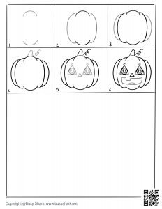 Free cute pumpkin drawing page,free download