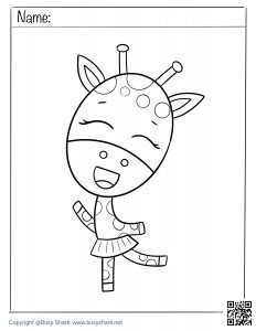 download free coloring page for a cute Giraffe dancing