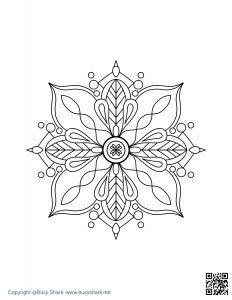 Download Free mandala coloring page