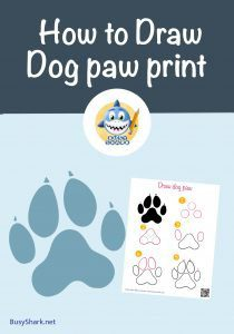 Drawing a dog paw print with 5 easy steps Only