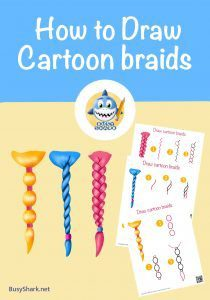 How to draw Braids with different styles , step by step cartoon drawing tutorial