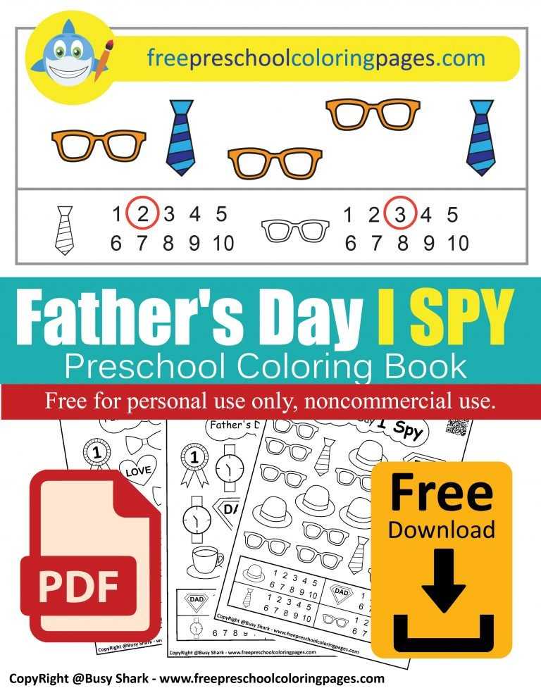 fathers day i spy free preschool coloring pages free printable dad learn to count numbers game activity for kids pdf book download
