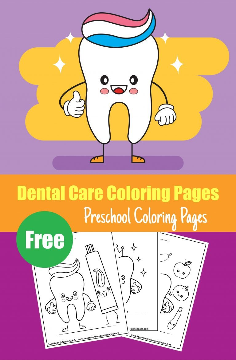 1dentist kawaii cute tooth dental activity coloring pages for kids pdf