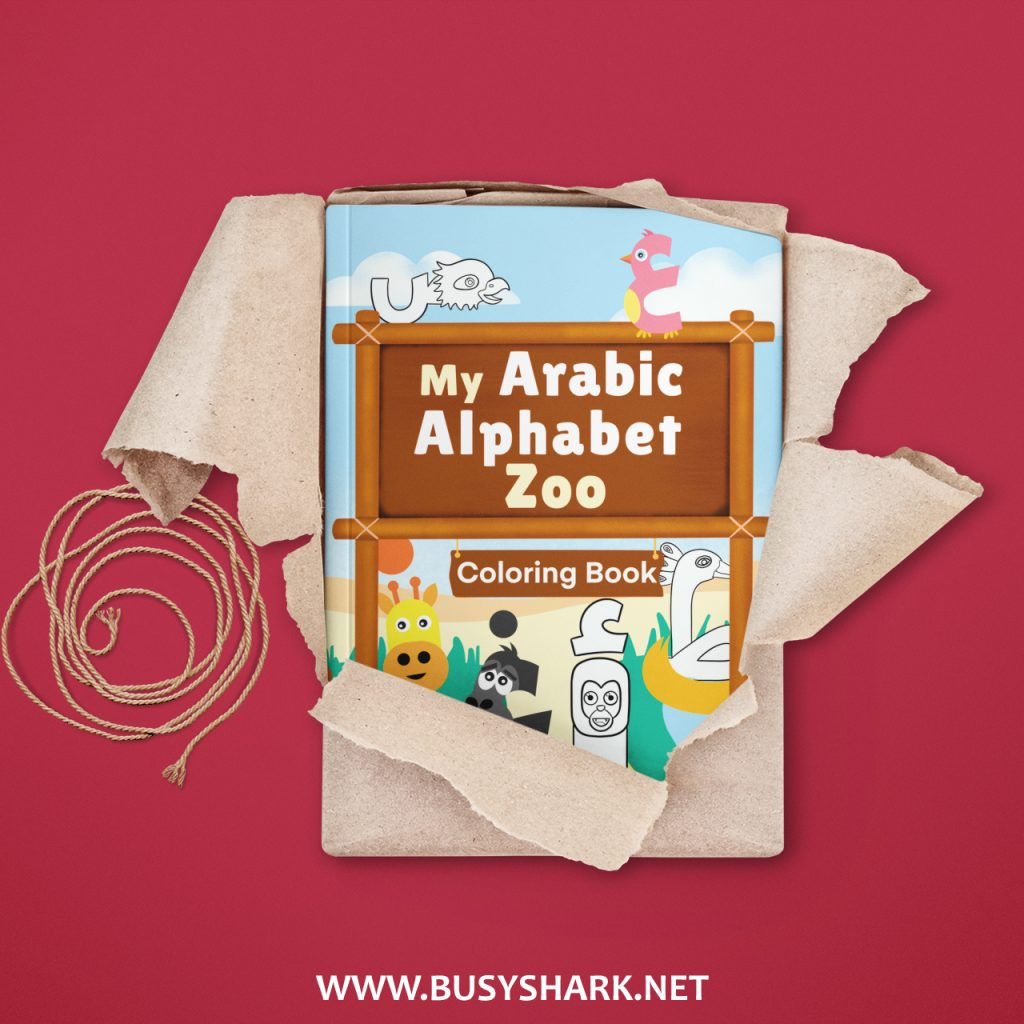 Learn,color and write Arabic alphabet with my Arabic alphabet zoo coloring book for kids