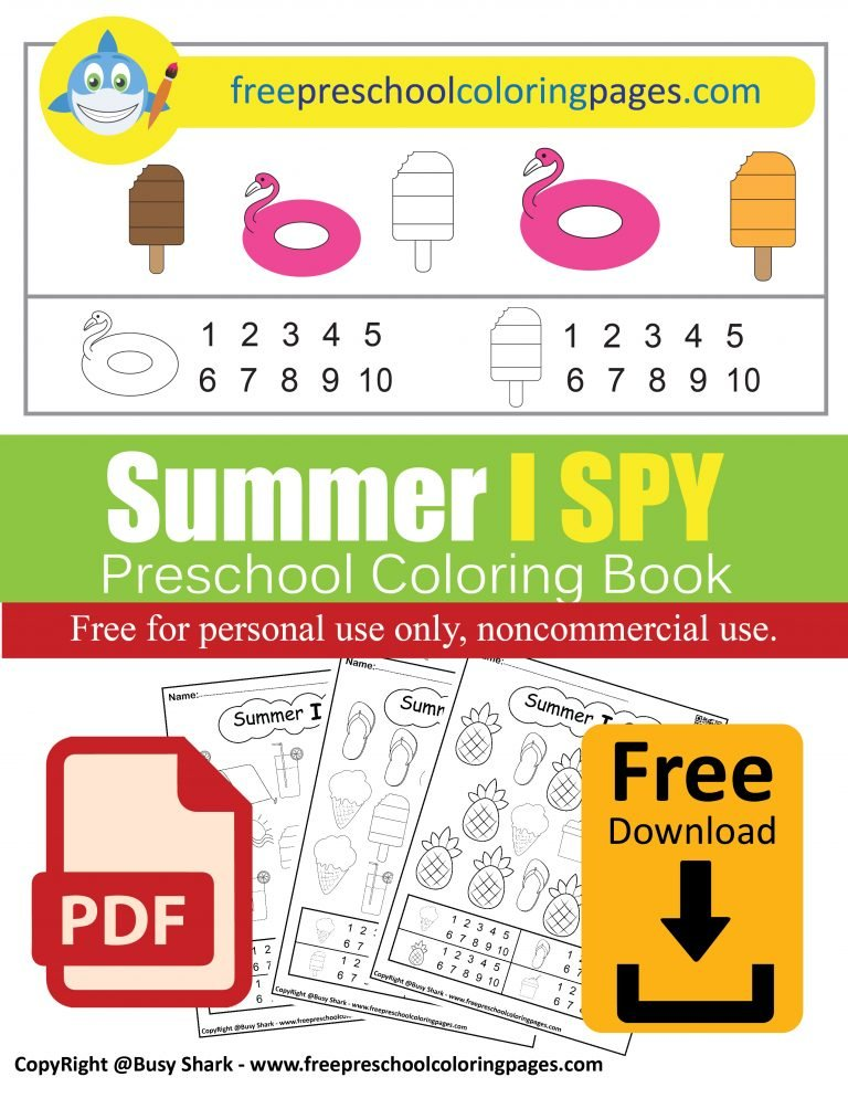 summer i spy free preschool coloring pages free printable dad learn to count numbers game activity for kids pdf