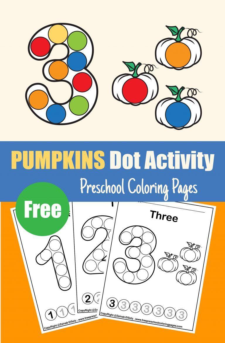 autumn pumpkins dot markers activity