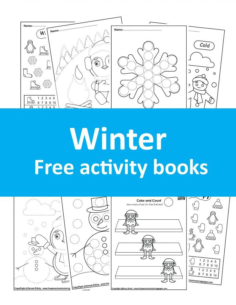 free winter coloring books